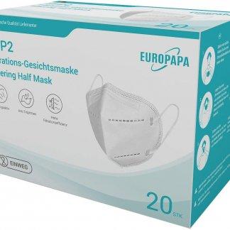 FFP2 Atemschutzmaske durch Stelle CE 2163 Zertifiziert und Dekra geprüft (20 Stck)